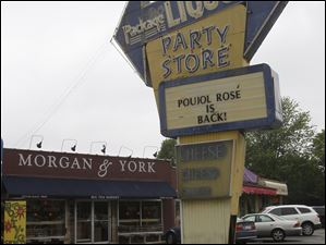 Morgan & York still has the Party Store sign in front of the wine and cheese store.