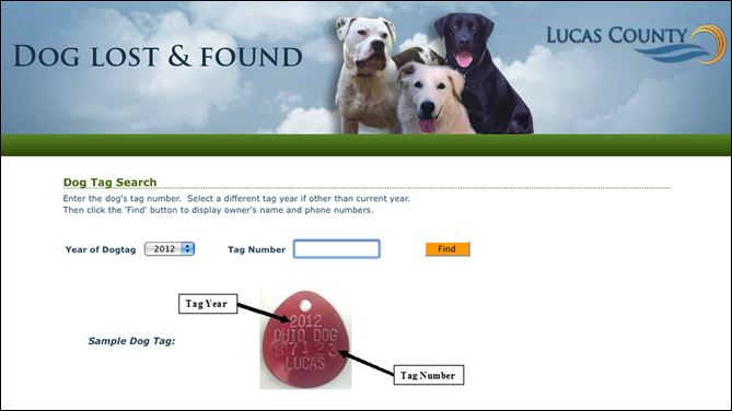 Web site helps reunite owners and lost dogs Lucas County Auditor Anita Lopez has fashioned a Web site, www.co.lucas.oh.us/lostandfound, that helps reunite lost dogs with their owners. The database is searchable through 2006.