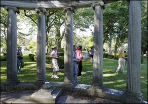 Historic Woodlawn Cemetery on West Central Avenue is known for its art, history, and architecture as well as being the final resting place for 65,000 people.