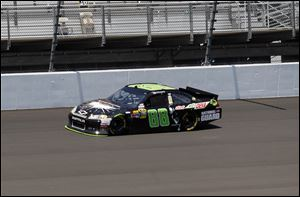 Dale Earnhardt, Jr., takes a practice lap at Michigan International Speedway last week before the running June 17 of the  Quicken Loans 400. Several drivers' cars experienced tire blistering during the race.