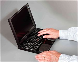 Repetitive hand motion, such as typing, can cause carpal tunnel.