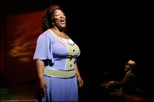 "Frenchie Davis performs as Mahalia Jackson in ""Mahalia,"" a Gospel musical by Tom Stolz, in 2007."