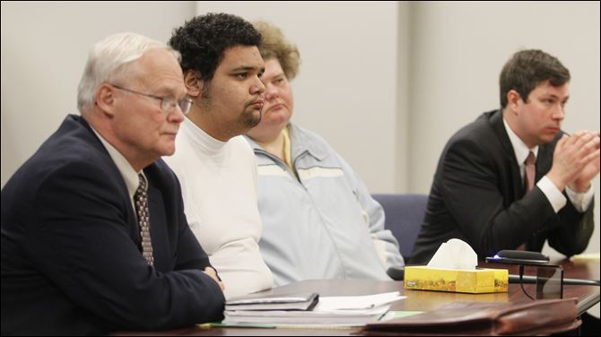 System cloaks young sex offenders Tyler Kimble, 17, second from left, appears at his hearing on being certified as an adult for sex crimes. He is one of two youths so designated in the last six years.