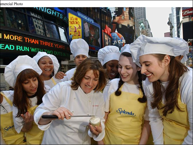 AP MCNEIL NUTRITIONALS Celebrity chef Gale Gand ices a cupcake among samplers who were distributing Mother's Day cards containing a Splenda No Calorie Sweetener cupcake recipe in Times Square in New York. Despite decades of use and tests, many people have lingering concerns about the safety of the Artificial sweetener options available -- mainly saccharin, aspartame and sucralose -- with preferences often based on hearsay, myths and whim.