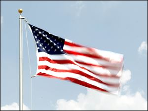 A new flag flies over the Lutheran Homes Society's Luther Ridge Senior Apartments on July 4, 2012.