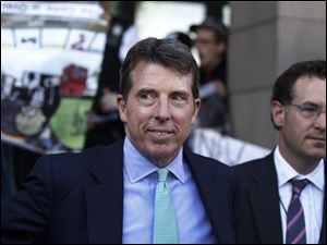 Former Barclays Chief Executive Bob Diamond leaves after giving evidence to the Treasury Select Committee at Portcullis House, central London Wednesday.