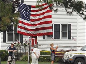 A house displays its patriotism on Seventh St. in Maumee.