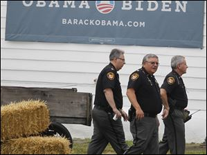 Security was heavy during Obama's speech.