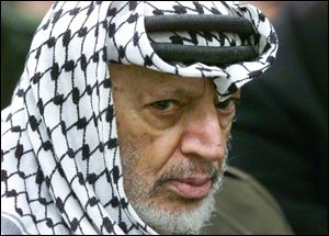 Mr. Arafat was 75 when he died Nov. 11, 2004, in a French military hospital.