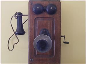 A phone in the former Monclova post office.