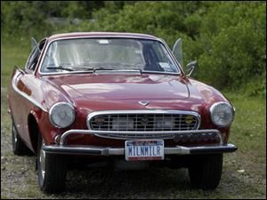 Irv Gordon's Volvo P1800 in Babylon, N.Y.