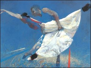 Works by Toledo native Robert Heindel, reminiscent of Degas' dancers, will be on view in Sur St. Clair Gallery at 1 S. St. Clair St. next week.