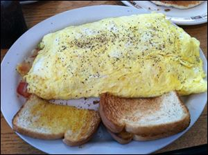 The Grill Cleaner omelet
