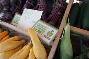 The Double Up program for food stamp users doubles purchases of local produce up to $20.