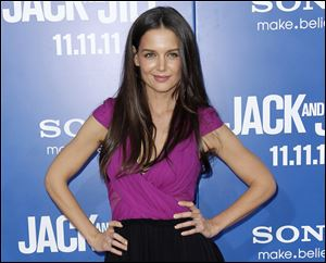 "Katie Holmes at the premiere of ""Jack and Jill"" in Los Angeles last November."