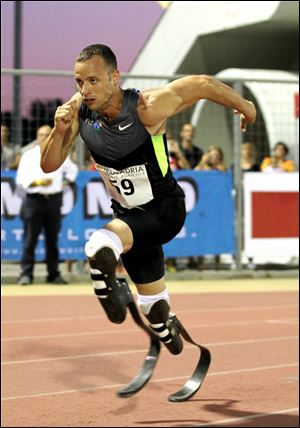South African Oscar Pistorius, the first amputee athlete selected to run in the Olympics, will compete in the 400 meters. His best time is 45.07 seconds.