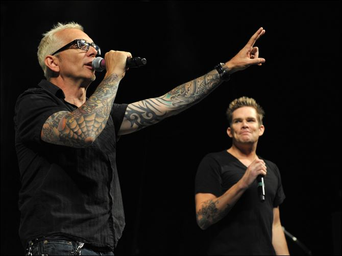 Summerland Tour at The Greek Theatre Art Alexakis, left, and Mark McGrath appear on stage at the first-ever Summerland tour last month at the Greek Theatre in Los Angeles, Calif.