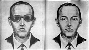 Artist's sketch released by the FBI shows the skyjacker known as 'Dan Cooper' and 'D.B. Cooper.'