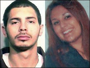 Jose Moya Jr., 23, left, turned himself in to Perrysburg police Tuesday, after being sought in connection with the fatal shooting of Leandra Frankum, right.