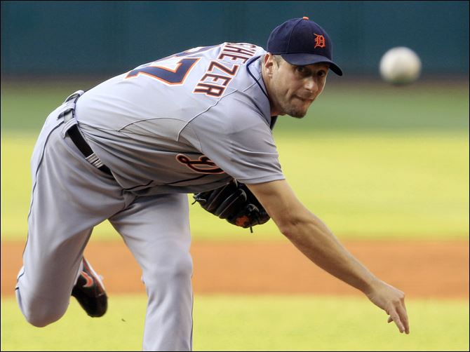 Tigers Indians Baseball Max Scherzer allowed two runs over seven innings to win his fourth straight decision, and the Detroit Tigers beat the Cleveland Indians for only the second time in eight games this season with a 5-3 victory Wednesday night.
