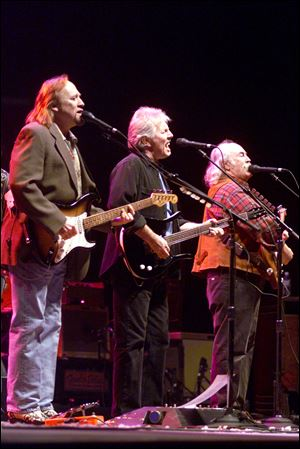 Left to right  Stephen Stills, Graham Nash, and David Crosby.
