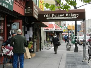 The streets of Little Poland, the heart of Brooklyn's Greenpoint area, are filled with shops selling Polish meats and baked goods.
