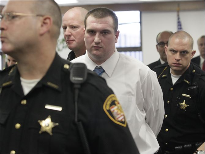 Samuel Williams is escorted from the courtroom by Lucas County sheriff's Samuel Williams is escorted from the courtroom by Lucas County sheriff's deputies after a jury that deliberated seven hours over two days found him guilty.