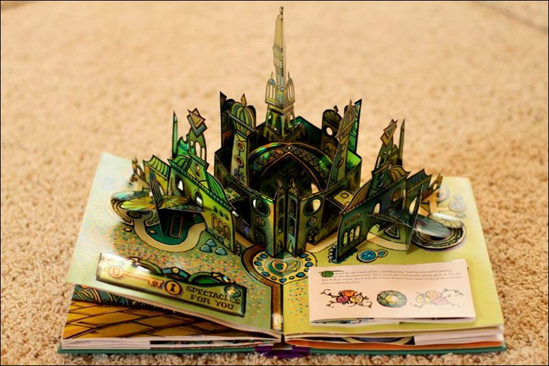 Wonderful wizard of oz displays the palace of oz in the living room of