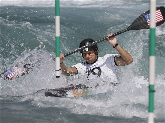 London Olympics Kayak Slalom Men Scott Parsons, a St. John's Jesuit graduate, seen in a practice run in London, missed a chance to advance in the men's slalom kayak competition at the London Games.