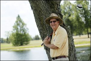 Ken Hawley of Napoleon, who worked at the Senior U.S. Open, will be a marshal at the No. 8 hole at the Farr.