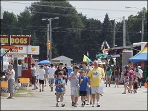 People attend the annual Wood County Fair.