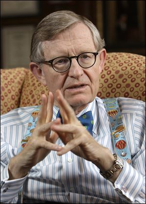 OSU president E. Gordon Gee has earned praise from coach Urban Meyer for help with prospects.