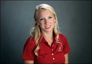 Brooke Pancake, a graduate of the Univ of Alabama,  will  play in the 2012 Jamie Farr Classic golf tournament at Highland Meadows.
