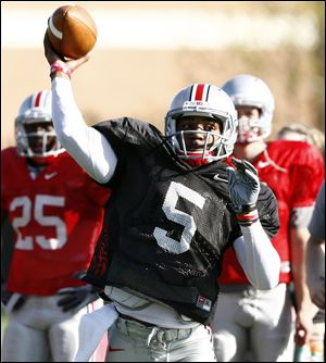 Sophomore quarterback Braxton Miller will lead the Buckeyes today in the team's first preseason practice.
