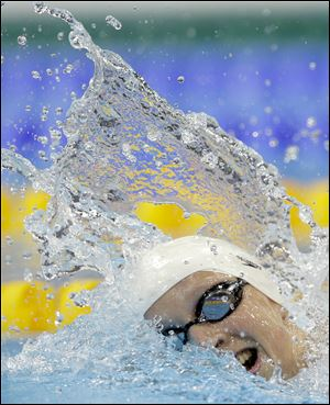 United States' Katie Ledecky won the women's 800-meter freestyle race at the London games.