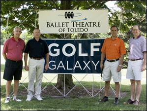Ballet Theatre of Toledo golf outing 2012: From left to right, Lance Tyo, Jim Johnson, Andy Shawaker and Paul Smith.