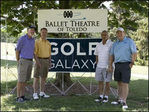 Ballet Theatre of Toledo golf outing 2012: From left to right, Terry Smith, Hilary Sujkowski, Vince Digliamo and Nigel Burgoine