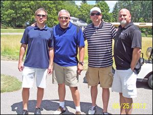Volunteers of America Golf outing: Silica Press Team: Joe Ray, Mike Skaff, Jason Pryba, Jason Sickebaugh.