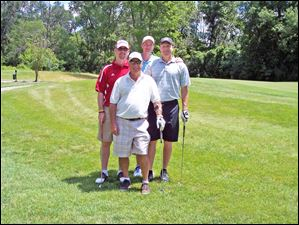 Volunteers of America Golf Outing 2012: the PNC Team: Marc Streeter, Jeff Slade, Scott Louderback, Don Amon.
