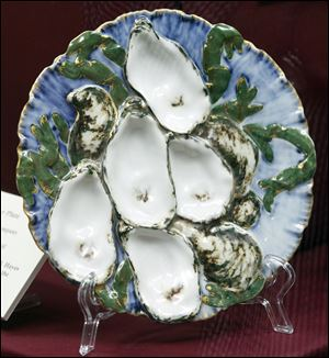 Haviland & Company oyster plate at the Hayes Presidential Center Museum.