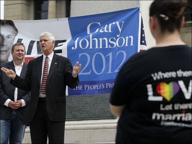 James Gray, Libertarian candidate for vice president James Gray, Libertarian candidate for vice president, endorses a ballot initiative to define marriage in Ohio as 'a union of two consenting adults.' He spoke at a rally Saturday.