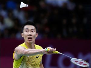 Malaysia's Lee Chong Wei plays against China's Lin Dan in the men's singles badminton gold medal match at the 2012 Summer Olympics. Chong Wei lost to China's Lin Dan for a second time in an Olympic final.
