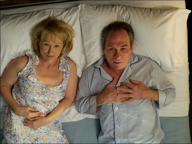 Meryl Streep as Kay Soames Meryl Streep as Kay Soames, left, and Tommy Lee Jones as Arnold Soames in a scene from