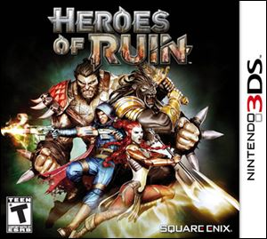 Heroes of Ruin; Grade: 2.5 stars; System 3DS; Published by: Square Enix; Genre: Adventure; ESRB rating: teen.