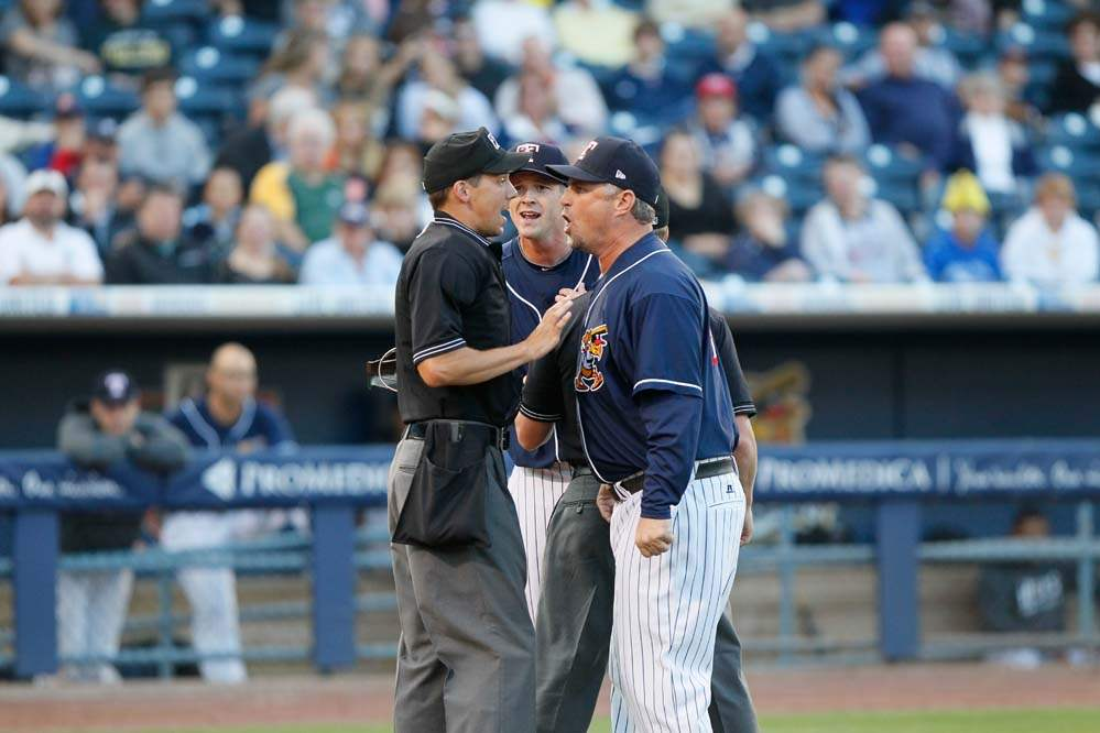 Toledo-Mud-Hens-manager-Phil-Nevin-and-pitcher-Drew-Smyly