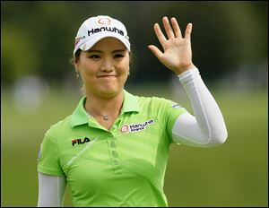 So Yeon Ryu acknowledges the crowd at Highland Meadows after wrapping up the Jamie Farr Toledo Classic. She earned $195,000 for the victory, which was her first since last season's U.S. Open.