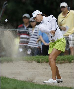 Hee Kyung Seo found herself in trouble most of the day on Sunday. She shot a 2-over 73 to slip to a tie for ninth.