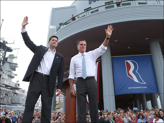 Wisconsin Rep. Paul Ryan waves Wisconsin Rep. Paul Ryan waves with former Massachusetts Gov. Mitt Romney after Mr. Romney announces he's chosen the seven-term congressman as his running mate on the GOP ticket.