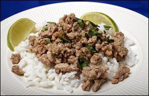 Thai-inspired ground turkey.