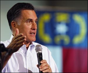 Mitt Romney speaks at a campaign rally this past weekend in Mooresville, N.C.